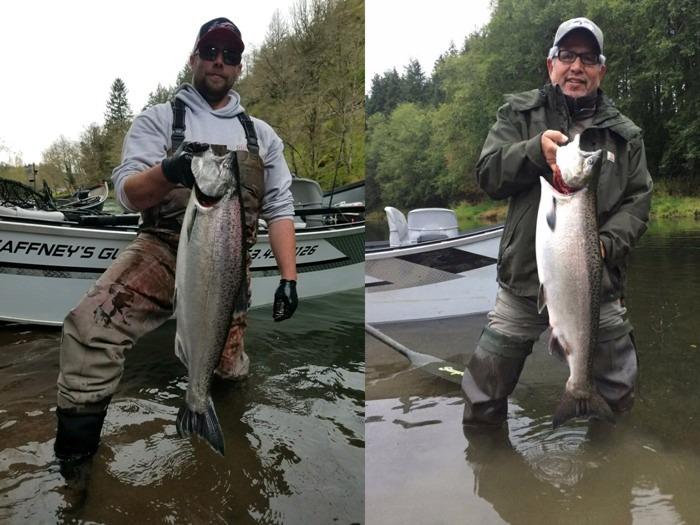Washington state steelhead salmon fishing charter guide for Washington fishing charters