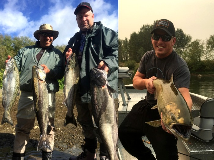 Humptulips fall Chinook salmon, caught with Gaffney's Fishing Charter service